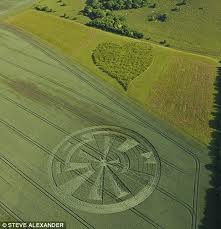 Crop circle appears next to heart-shaped wood on Summer Solstice - 21