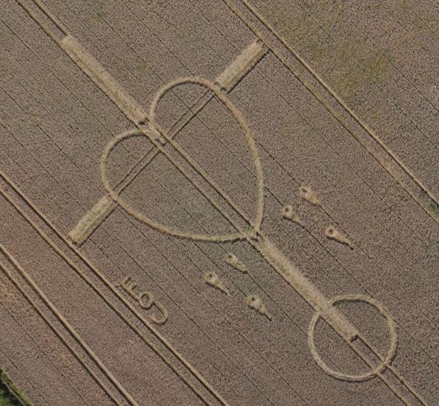 Heart crop circle