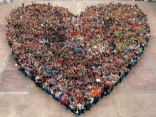 LA Heart flash mob