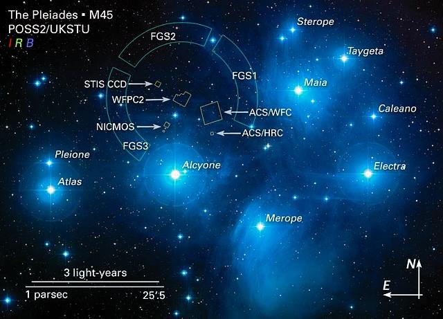 Pleiadi M45 map