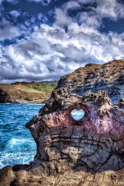 00000000Heart Shaped Rock, Maui, Hawaii.