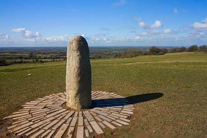 The Lia Fail or Stone of Destiny at The Hill of Tara, Co. Meath