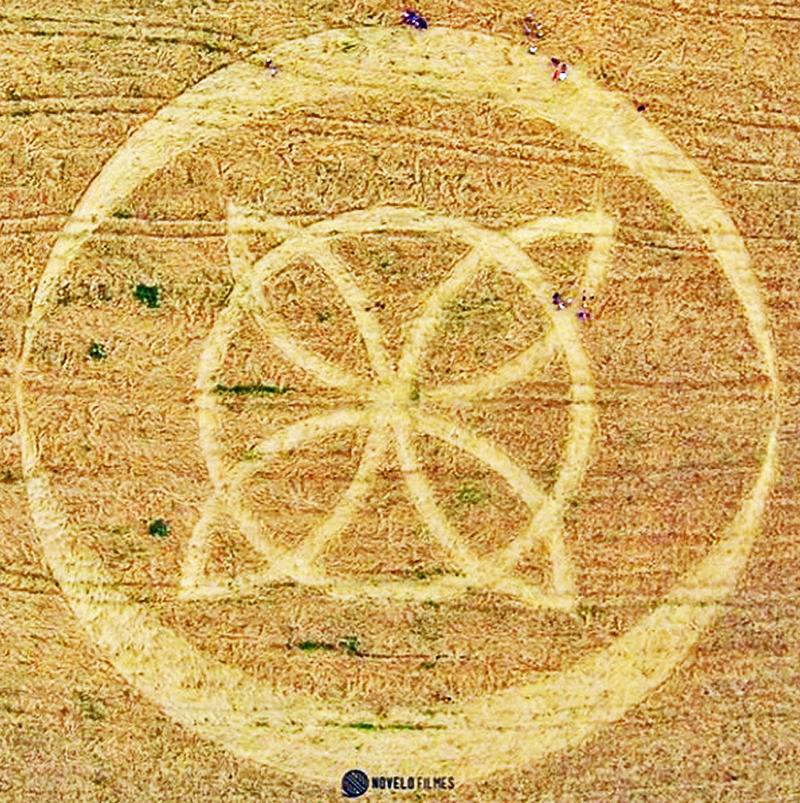 cropcircle Ipuacu, Santa Catarina, Brazil. Reported 31st October