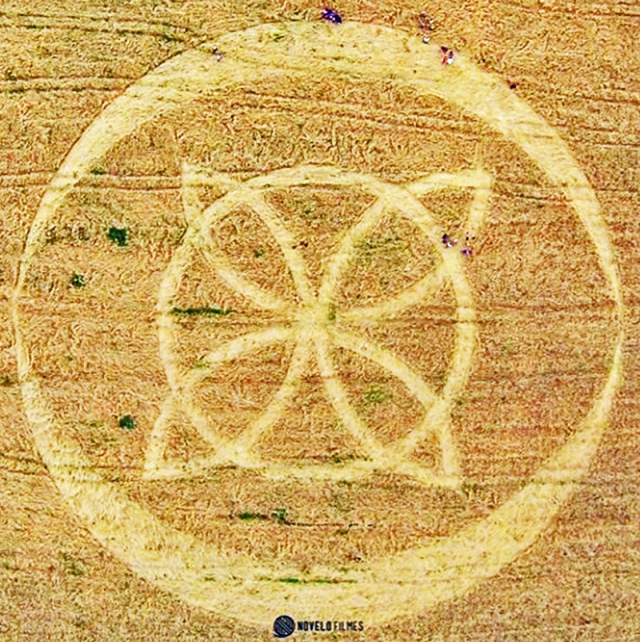 cropcircle Ipuacu, Santa Catarina, Brazil. Reported 31st October