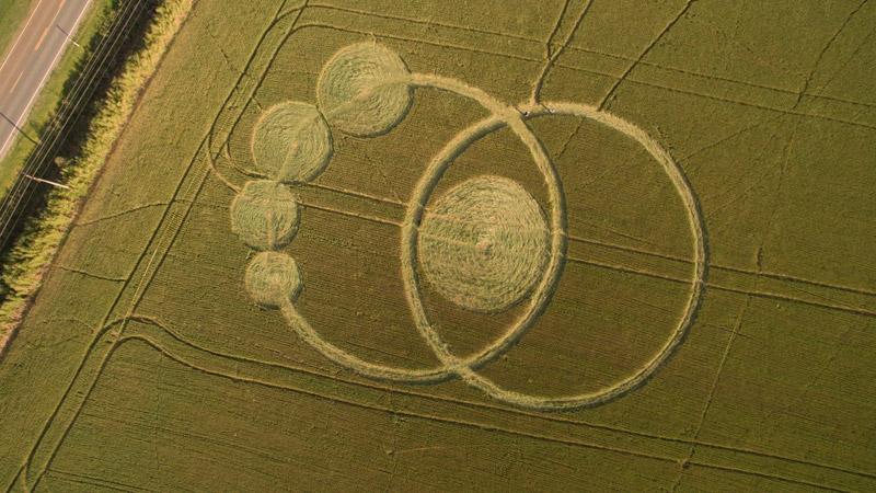 cropcircle Prudentópolis, Paraná, Southern Brazil. Reported 7th October.